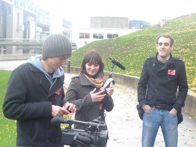 Tournage en 2ème année d'école de cinéma CLCF - Promotion 2012